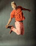 Springender Tänzer Lizenzfreie Stockfotografie