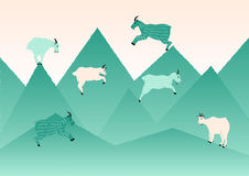 Springender Ziegen-Illustrations-Vektor vektor abbildung