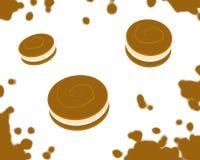 Springendes Cookies_White Lizenzfreie Stockfotos