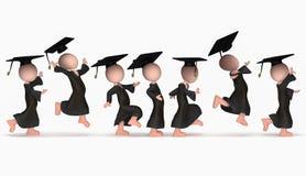 Springendes glückliches Schule-cumloude Stockfoto