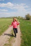 Springendes Mädchen Stockfotos