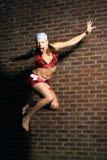 Springendes Mädchen Stockfotografie