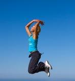 Springendes Mädchen Stockbilder