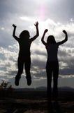Springendes Schattenbild Lizenzfreie Stockfotografie