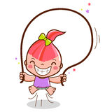 Springendes Seil des Mädchens Stockfotografie