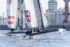Springer segla serier för ytterlighet 40 2014 i Ryssland, St Petersburg Royaltyfri Bild