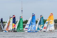 Springer segla serier för ytterlighet 40 2014 i Ryssland, St Petersburg Royaltyfria Foton