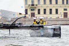 Springer segla serier för ytterlighet 40 2014 i Ryssland, St Petersburg Fotografering för Bildbyråer