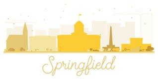 Springfield City skyline golden silhouette. Stock Photos