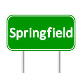 Springfield green road sign Royalty Free Stock Images