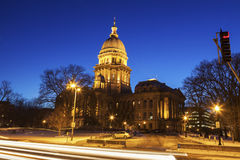 Springfield, Illinois - Stan Capitol Budynek obrazy royalty free