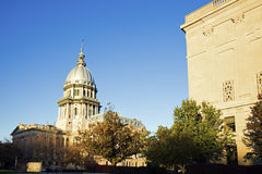 Springfield, Illinois - State Capitol. Springfield, Illinois - fall by State Capitol. State Capitol complex Royalty Free Stock Images