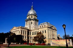 Springfield, Illinois:  State Capitol Building. Springfield, Illinois:  The 1868 Illinois State house built in classical style in the form of a Latin Cross with Royalty Free Stock Photo