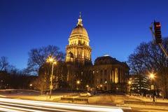 Springfield, l'Illinois - construction de capitol d'état images libres de droits
