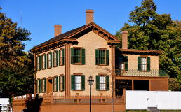 Springfield, l'Illinois : La maison d'Abraham Lincoln Photo stock