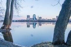 Springfield massachusetts city skyline early  morning Stock Photos