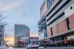 Springfield massachusetts city skyline early  morning Royalty Free Stock Photos