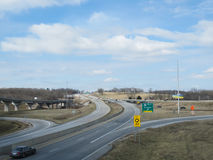 Springfield-, Missouri-Autobahnsystem und Ausgang für Branson Stockfotografie