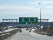 Springfield-, Missouri-Autobahnsystem und Ausgang für Branson Lizenzfreies Stockfoto