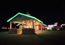 Best Western Rail Haven motel. Famous motel on Route 66. stock photos
