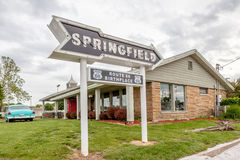 Springfield Missouri, USA- May 18, 2014. Springfield road arrow stock photos