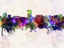 Springfield MO skyline in watercolor Royalty Free Stock Photography