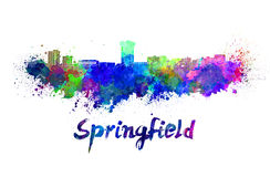 Springfield MO skyline in watercolor Stock Images