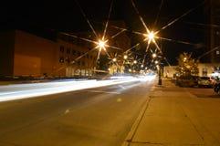 Springfield på natten royaltyfri fotografi