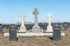 Springfontein的军事公墓 图库摄影