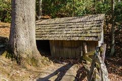 Springhouse на экспонате кабины Brinegar Стоковое Изображение RF