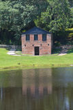 Springhouse and chapel at Middleton Place. CHARLESTON SC USA 06 23 2016: Springhouse and chapel at Middleton Place is a plantation in Dorchester County, directly Royalty Free Stock Images