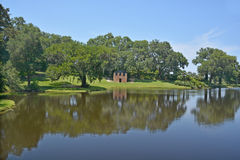 Springhouse and chapel at Middleton Place royalty free stock photos