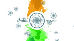 India independence day design with watercolour