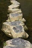 Springplanken over rivier royalty-vrije stock afbeelding