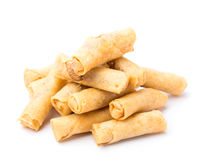 Springroll. Isolated on white background Stock Photos