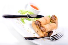 Springrolls (Shallow DOF) Royalty Free Stock Photo