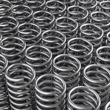 Springs. 3d redering of a a lot of metal springs Stock Images