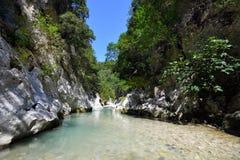 Springs of Acheron river Stock Photos