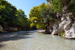 Springs of Acheron river Stock Photography