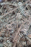 Springs. Bunch of spring coils in various dimensions Stock Photography