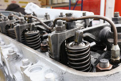 Springs on the cylinder head Stock Photography