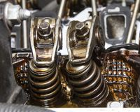 Springs for the valves Stock Photo