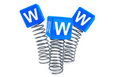 Springs with WWW cubes Stock Photography