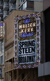 Springsteen On Broadway. Bruce Springsteen brings his solo show to Broadway. It Will be held at the Walter Kerr Theatre in New York City. Springsteen will Stock Image