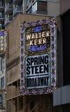 Springsteen em Broadway imagem de stock