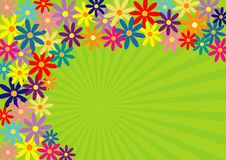 Springtime!. Colorful springtime flower background stock illustration