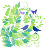 The springtime. Illustration spring garden Royalty Free Stock Photo