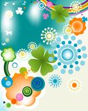 Springtime. Abstract colorful joyful springtime design Stock Image