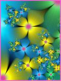 Springtime abstract. Flower fractal pattern design Royalty Free Stock Photos