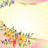Springtime background. With flowers and butterfly Royalty Free Stock Image
